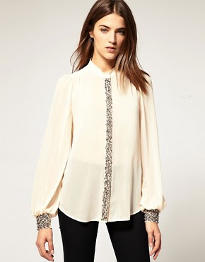 Image 1 of Warehouse Embellished Blouse