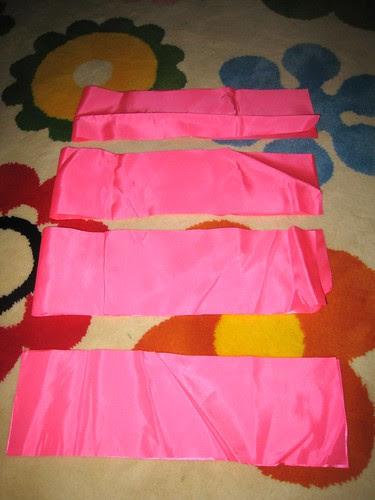 16- satin skirt cut
