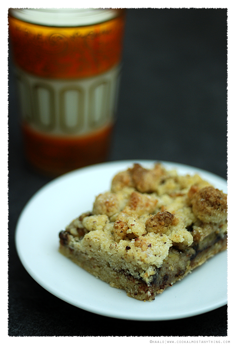 Nutella and Banana Crumble Slice© by Haalo