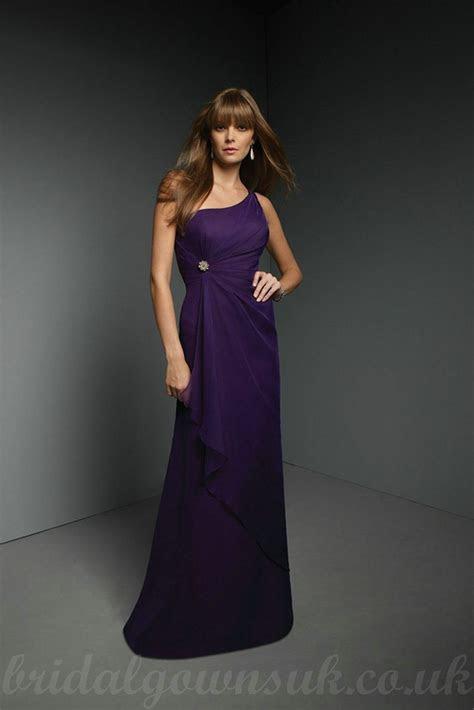 one shoulder purple bridesmaid dresses   Purple Bridesmaid