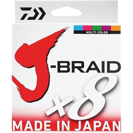 TRENZADO DAIWA J BRAID X 8 MULTICOLOR -500M