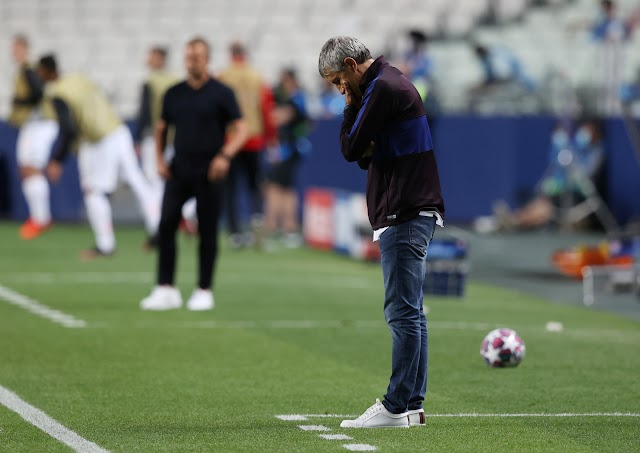 Barcelona have 'already decided' to SACK Quique Setien after disastrous 8-2 Champions League defeat to Bayern Munich