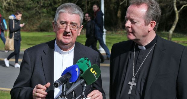 "What the Irish same-sex marriage referendum showed ""was a breakdown between two languages"", Archbishop of Dublin Diarmuid Martin (left)  told the Synod of Bishops in Rome.  Archbishop Eamon Martin of Armagh (right)  said the synod should not forget ""families which have experienced the trauma of abuse and domestic violence"". File photograph: Colin Keegan/Collins"