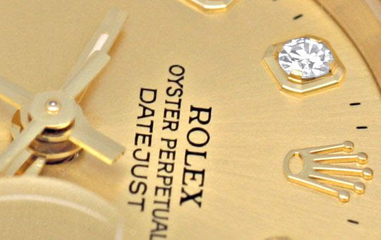 Originalfoto ROLEX LADY DATEJUST GOLD DIAMANTEN