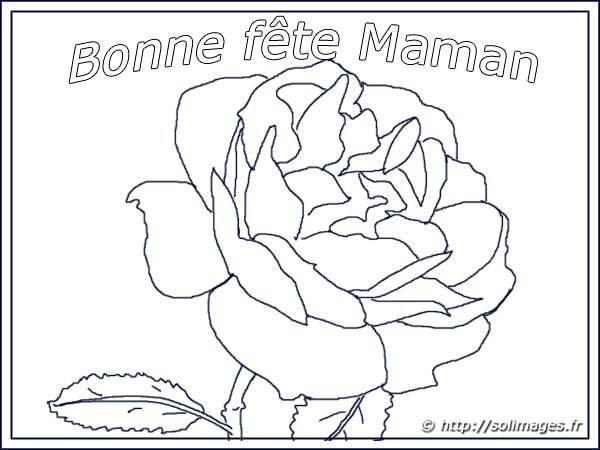 Carte Coloriage Bonne Fête Maman