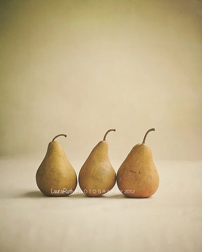 """Kitchen Photography -Food Photo - Pears Fruit - Vintage Inspired - Home Decor - Kitchen Decor - Fine Art Photography 8x10 - """"Bosc Pears"""" - DreamyPhoto"""