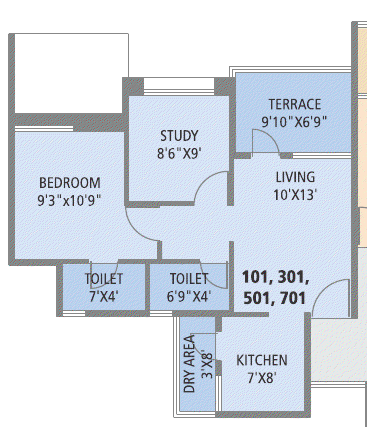 1.5 BHK Flat - 489 Carpet  + 65 Terrace - Rs. 26 - 26.75 Lakhs - Pate Surajya Donaje Sinhagad Pune B 1, B 2 Buildings