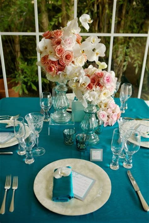120 best Teal Weddings images on Pinterest   Table