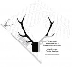 Antler Rack No.3 Silhouette Woodworking Pattern - fee plans from WoodworkersWorkshop® Online Store - antlers,silhouettes,shadow art,animals,yard art,drawings,plywood,plywoodworking plans,woodworkers projects,workshop blueprints