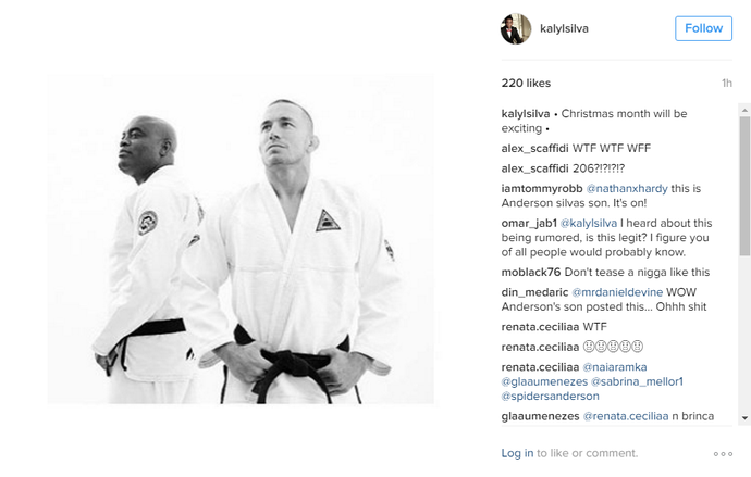 Anderson Silva St-Pierre (Foto: Reprodução Instagram)
