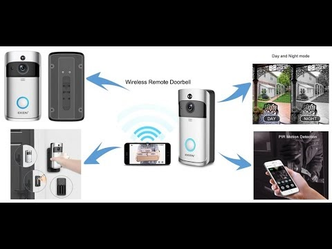Smart WiFi Security Visual Recording Doorbell  (with Night Vision & Intercom Door Phone)