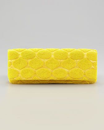 Moyna Circle Bead Silk Clutch Bag