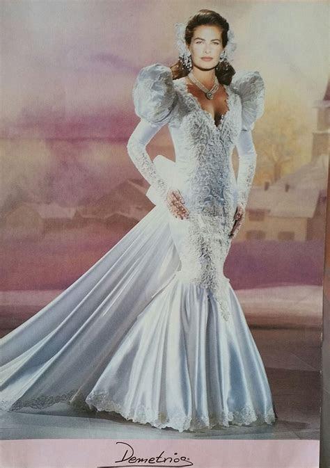 Mermaid dress Demetrios 1993, similar to my 1990 dress