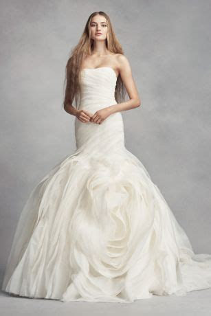 White by Vera Wang Wedding Dress with Rosettes   David's