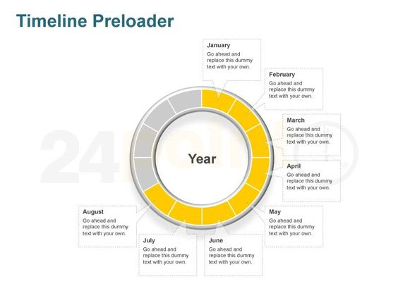 Editable PowerPoint Template - Timeline Preloader Graphic http ...