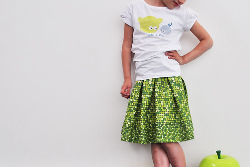 Ikea quilt cover becomes pleated skirt