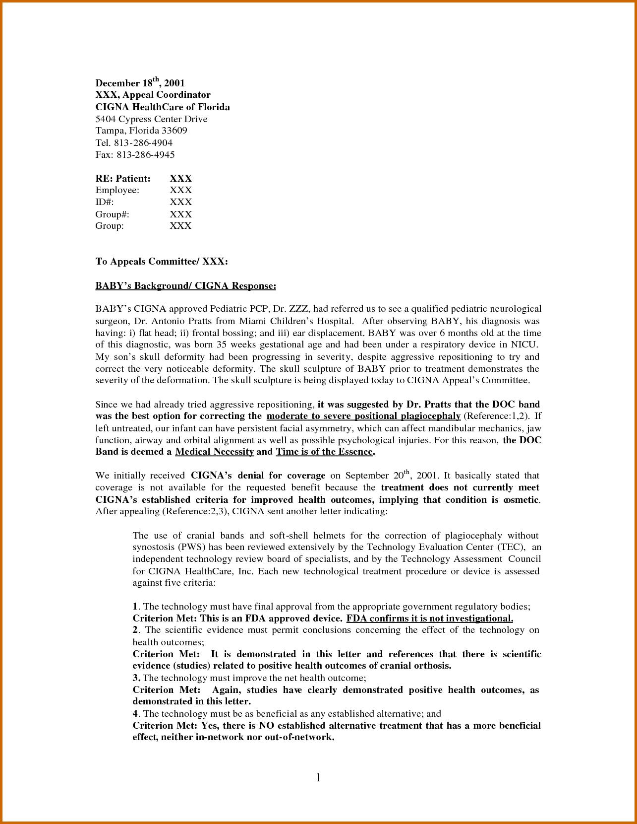 Insurance denial letter template - insurance