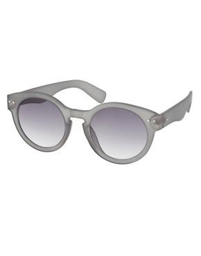 Image 1 ofASOS Grey Keyhole Sunglasses
