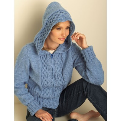 Cozy Cable Hooded Cardigan