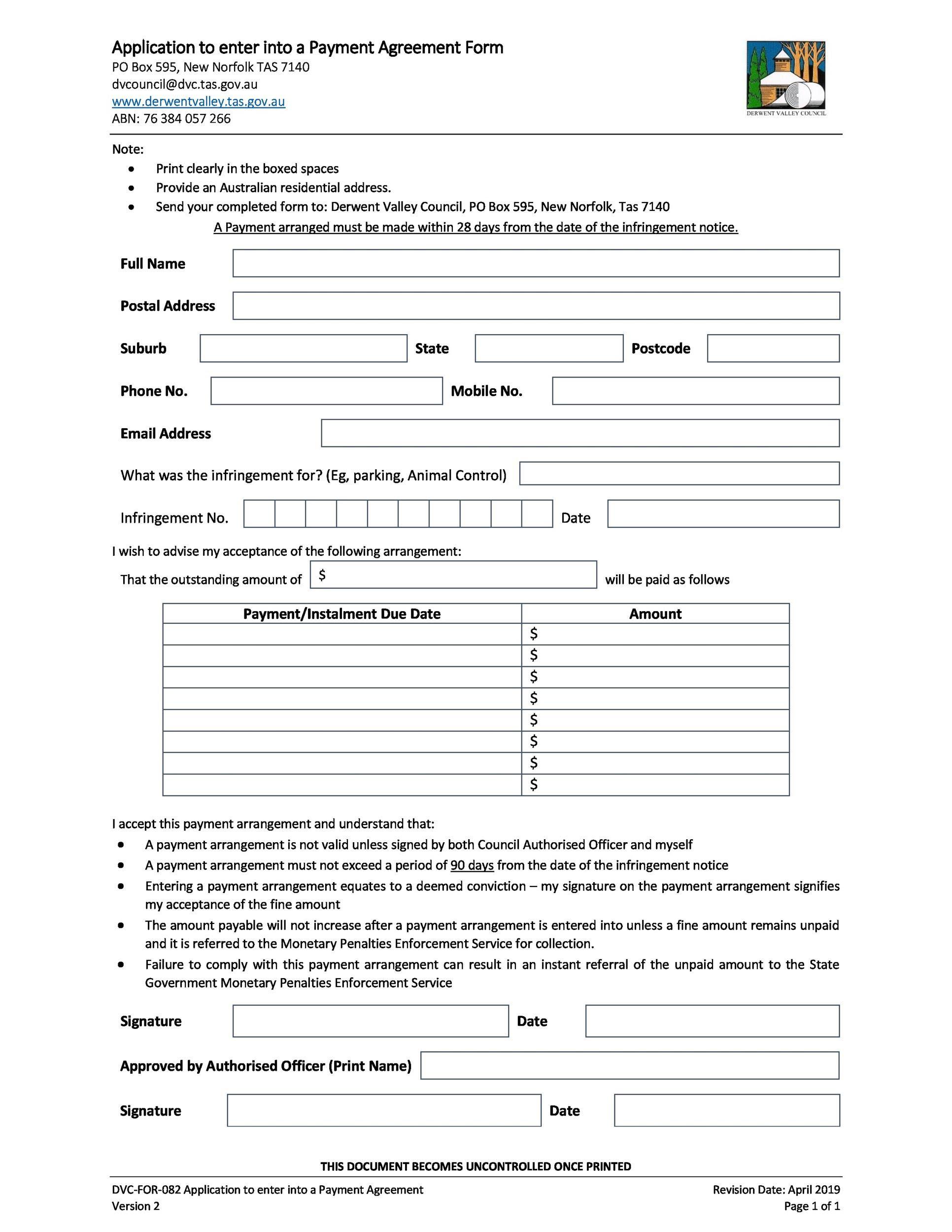 Installment Plan Agreement Template Pdf Template