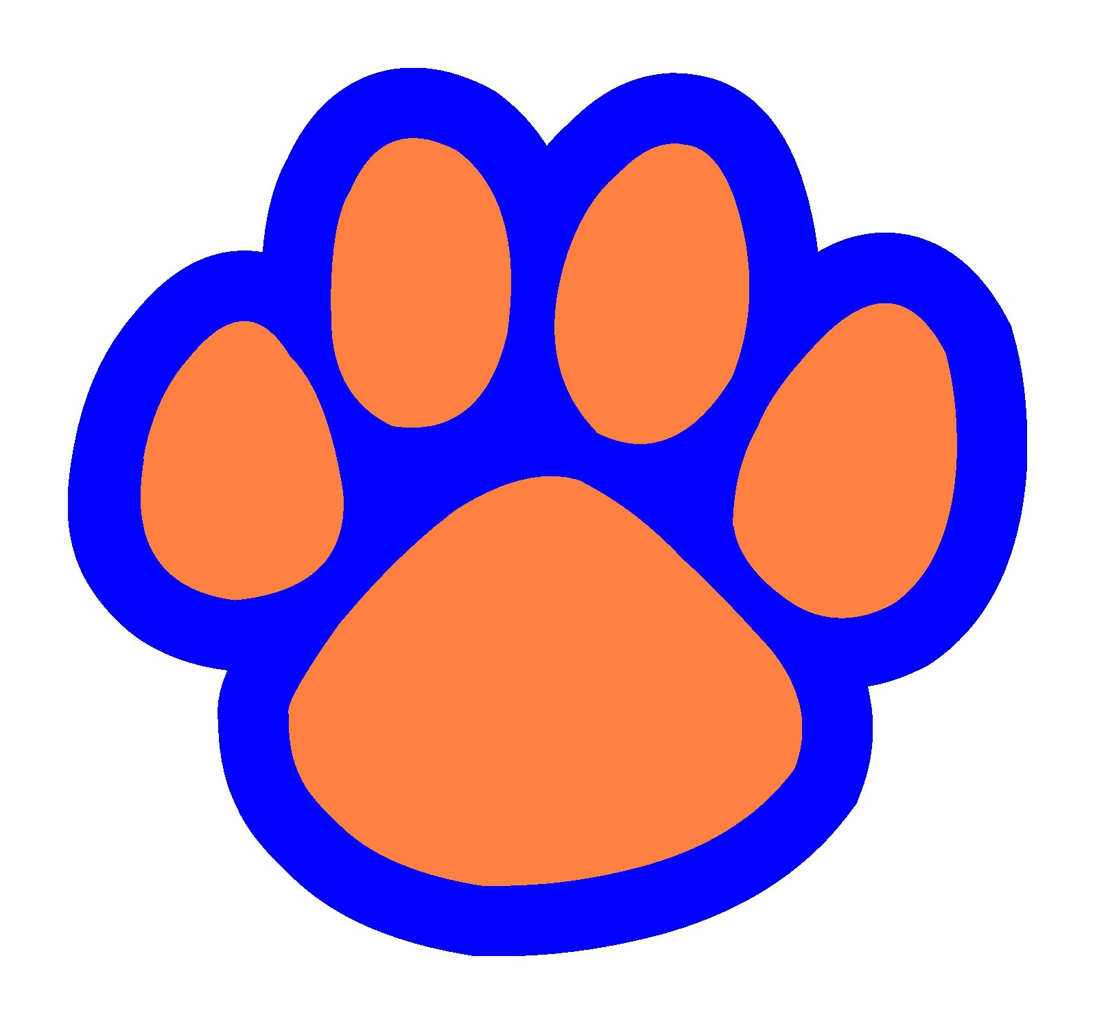 Download Tiger Paw Print Clipart   Free download on ClipArtMag