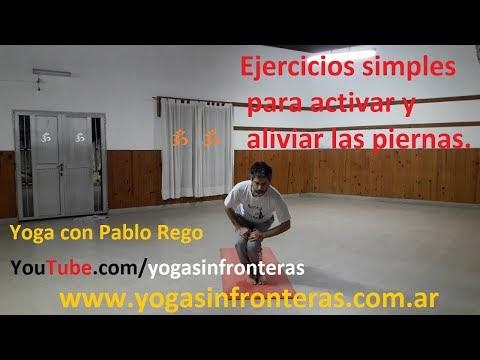 Video: Ejercicios simples para activar y aliviar las piernas - Yoga con Pablo Rego.
