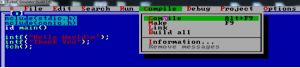Compiling a C program in Turbo C