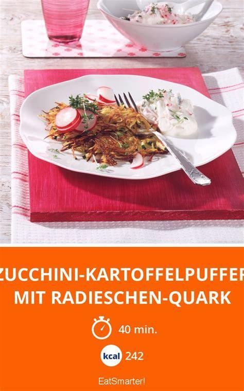 zucchini kartoffelpuffer mit radieschen quark rezept