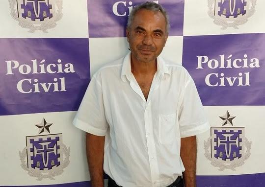 Homem de 51 anos que foi preso suspeito de estuprar criança de 8 anos em Pindobaçu, no norte da Bahia | Foto: Divulgação