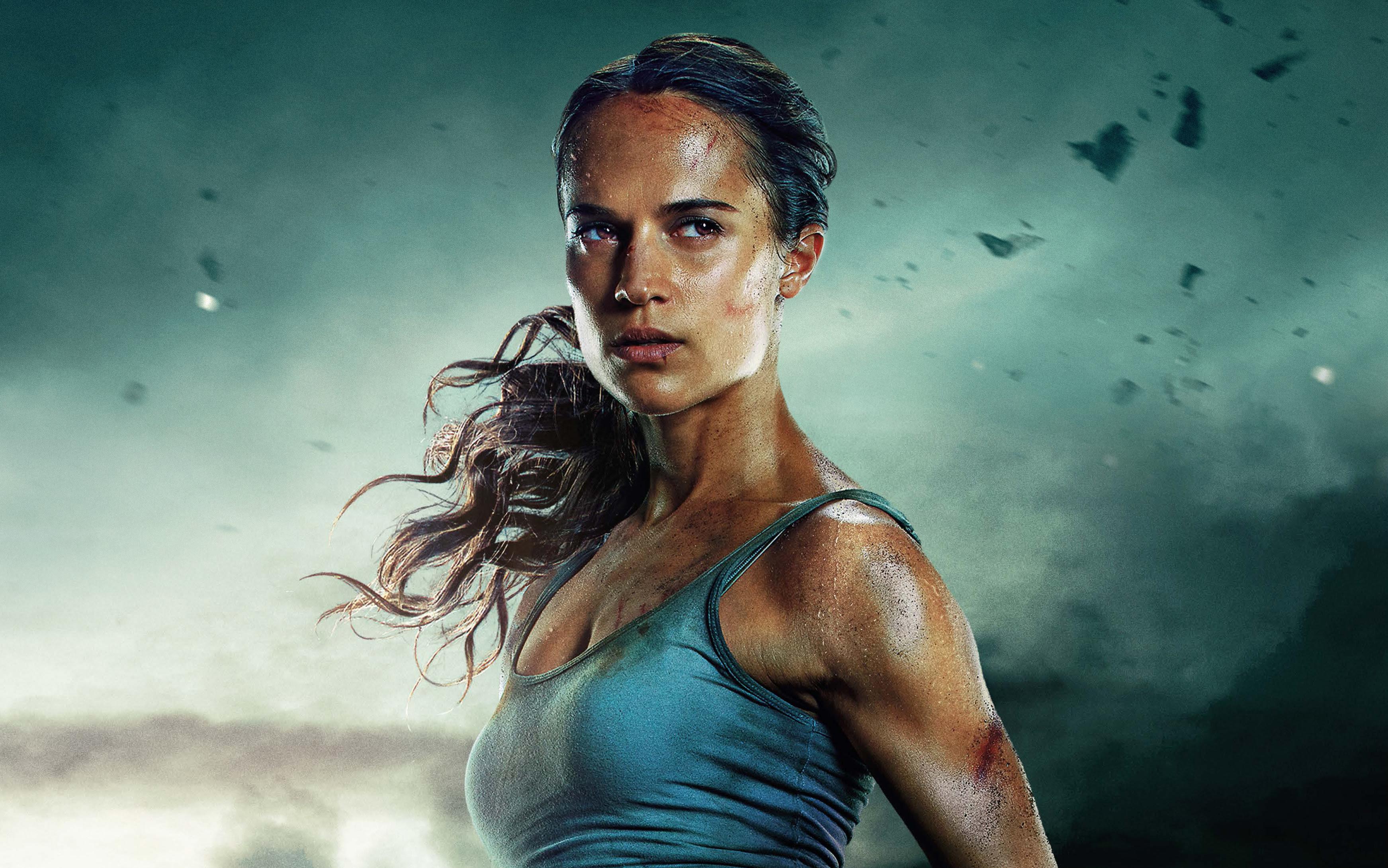 Alicia Vikander As Lara Croft In Tomb Raider Wallpapers Hd