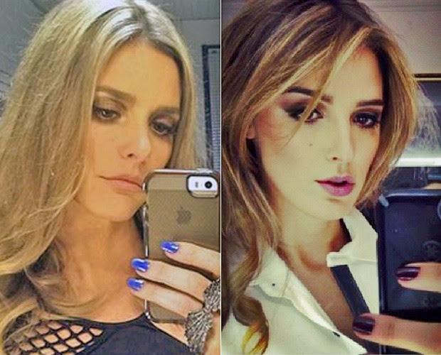 Fernanda Lima e Rafa Brites posam para o espelho e revelam semelhança (Foto: Reprodução/Instagram)
