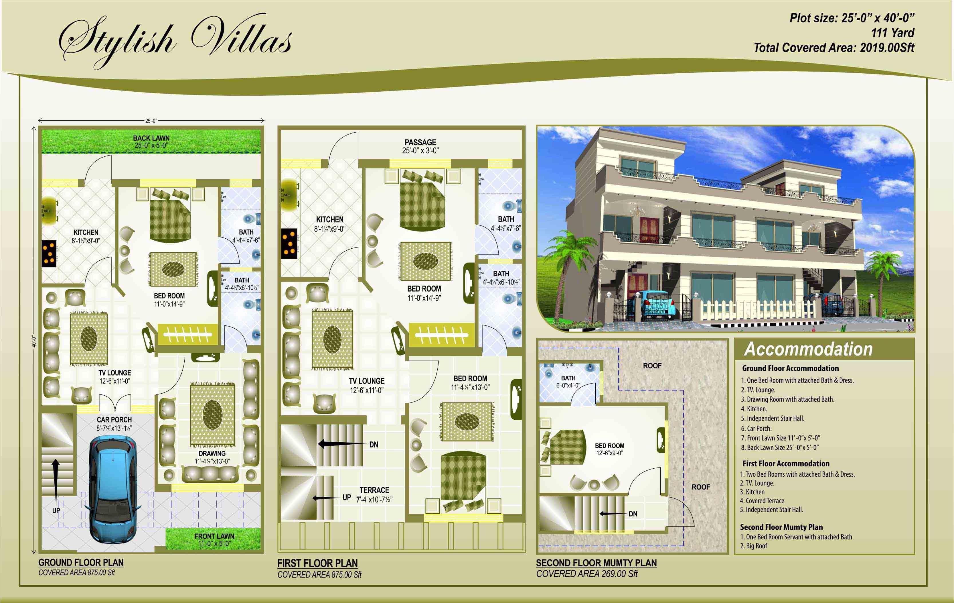 House Plan 25 X 45 Gharexpert