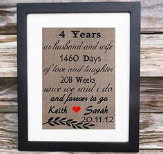 4 years together   Linen Anniversary Print   4th Wedding