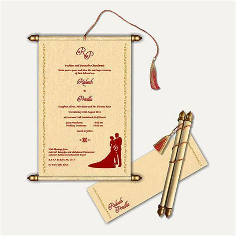 Scroll Wedding Cards at Rs 70 /piece   Andheri East