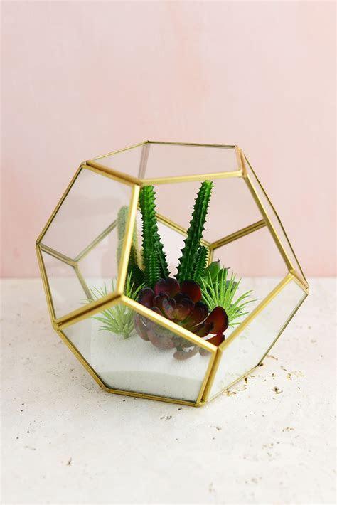 Hira Glass & Brass Terrarium Display Box