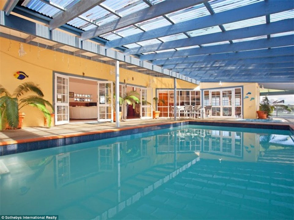 Luxuries: Many of the properties on sale at the top end of the market come with extras like swimming pools. This particular property also comes with a barn, an equestrian arena, tennis court, jetty and boat ramp - for NZ$10,000,000, or £5million