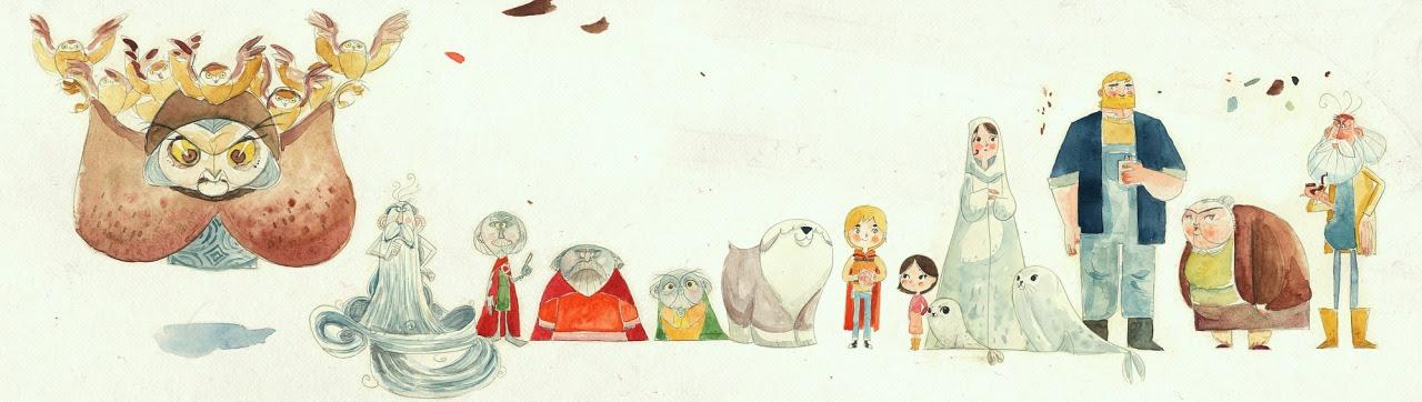 Concept art Tomma Moore'a, twórcy filmu