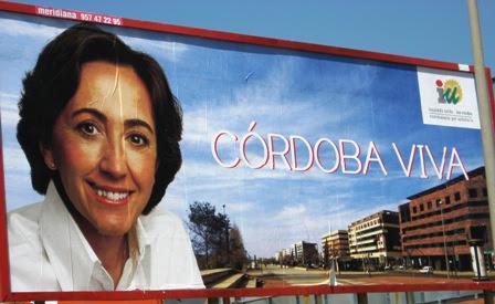 Rosa Aguilar en un cartel de propaganda electoral