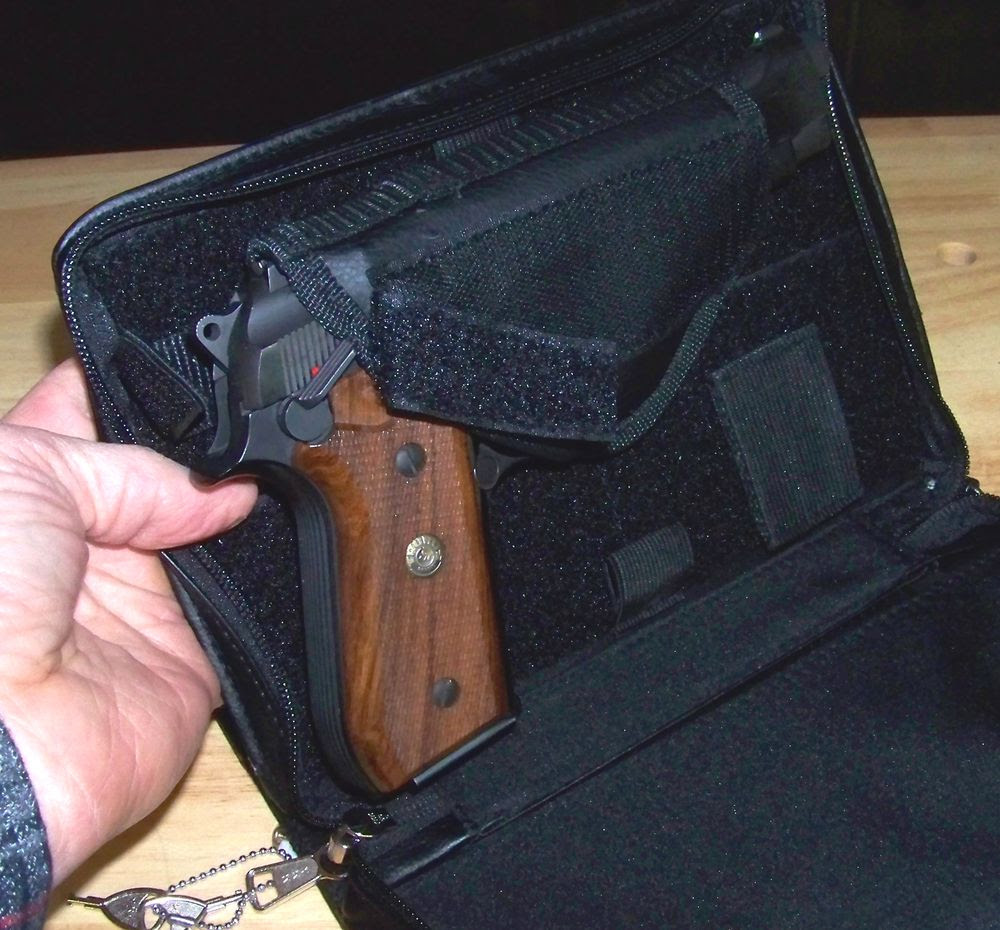 Real Leather Organizer with Covert Compartment Gun Holster