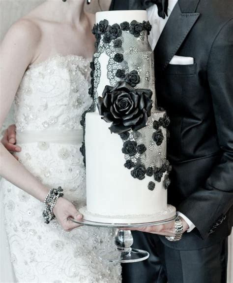black and white wedding dresses   Tulle & Chantilly