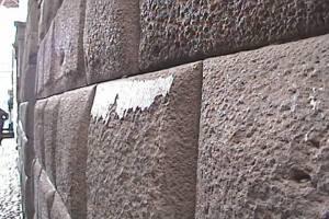 Loreto St Wall Showing a Vitrified Layer