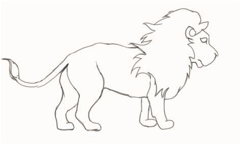 lion drawing  children