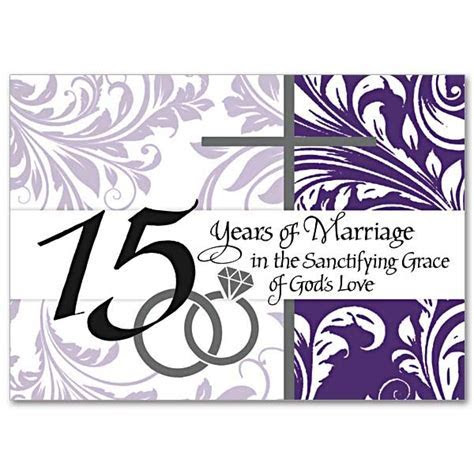 15 Years of Marriage in the Sanctifying Grace of God's
