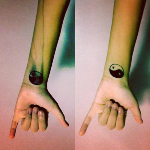 Yin Yang Tattoos On Wrists
