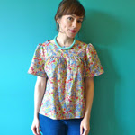 Short Sleeved Liberty Mathilde Blouse