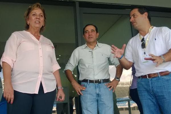 Governadora Rosalba Ciarlini chegou cedo à Arena das Dunas