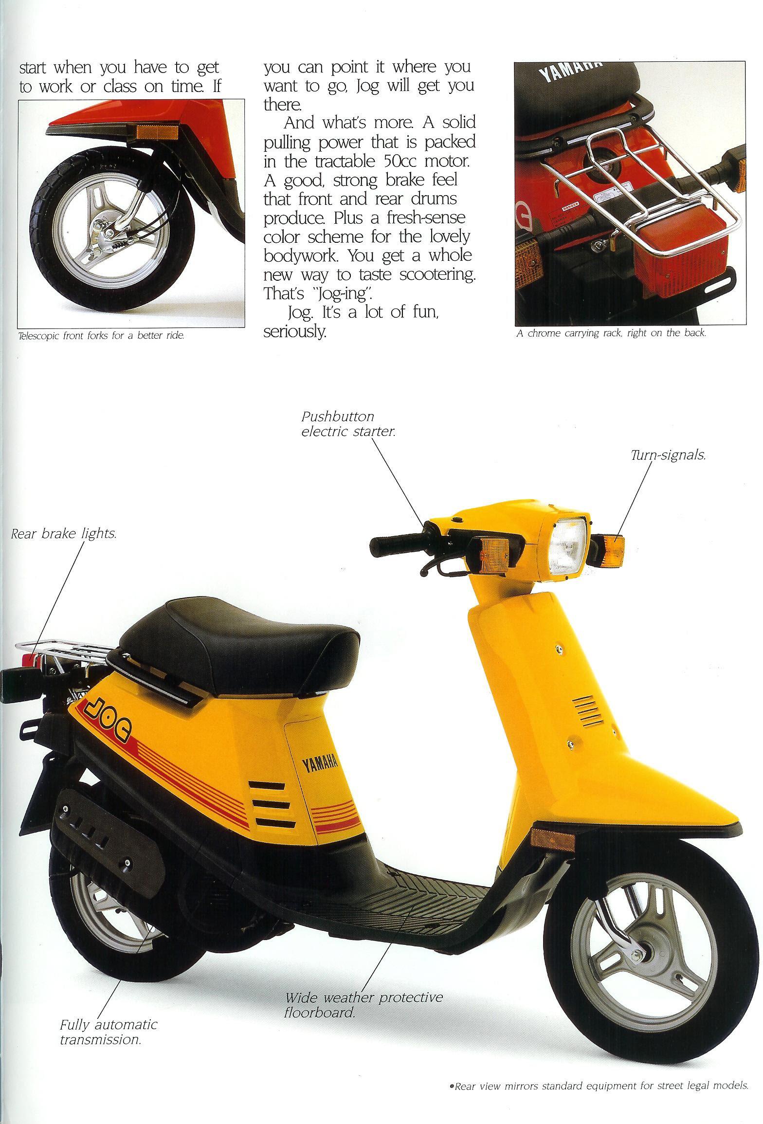 Yamaha Jog Ad Brochure Scans Motor Scooter Guide