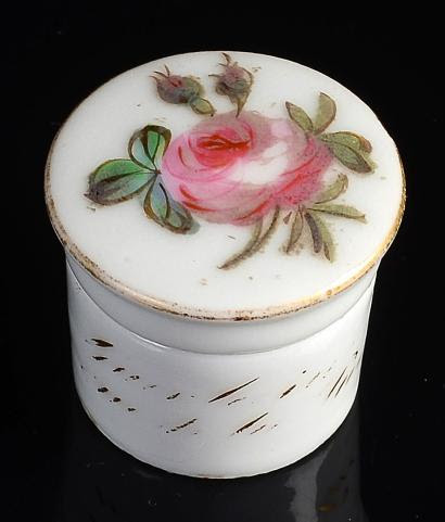 "GUERLAIN ""Rose Lip"" - (1880) Rare small warehouse cylindrical"