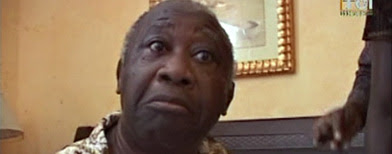In this image made from television, Laurent Gbagbo is seen after his arrest, at the Golf Hotel in Abidjan, Ivory Coast, Monday, April 11, 2011. (AP Photo/TCI via APTN)