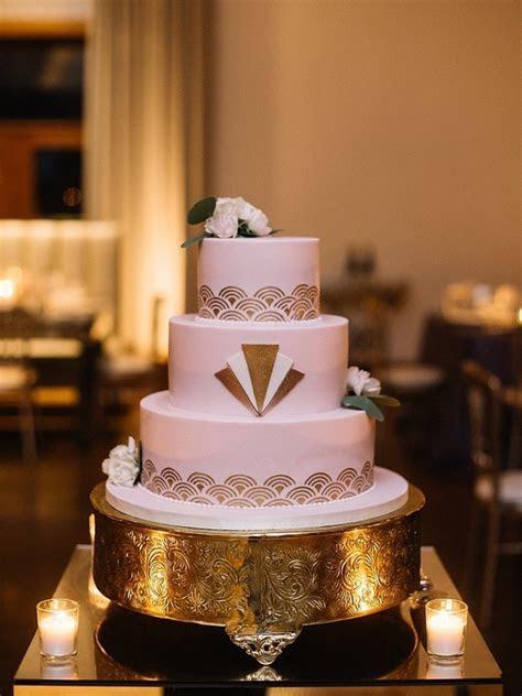 Art Deco Style Wedding Cake